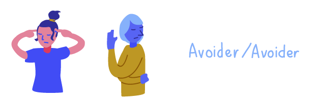 Conflict combination of two avoiders