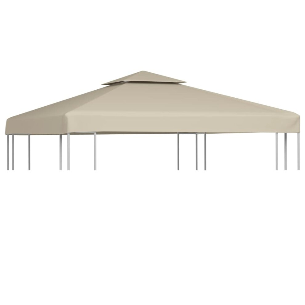 vidaxl gazebo cover replacement beige 3x3m waterproof patio canopy tent top