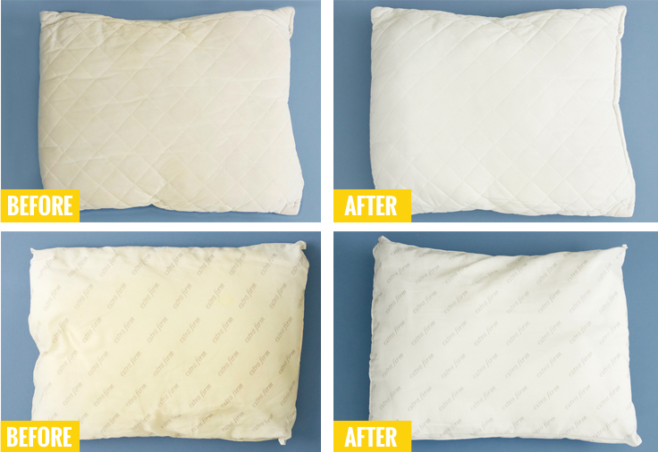 whiten your old yellowed pillows