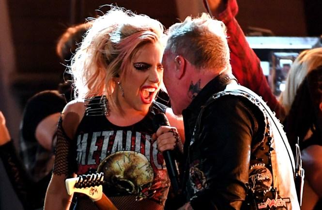 Resultado de imagem para Metallica e lady gaga
