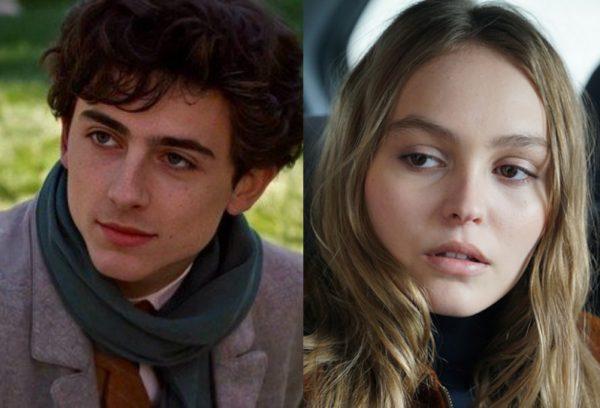 """Timothée Chalamet em """"Little Women"""" e Lily-Rose Depp em """"L'homme Fidèle"""" (Reprodução)"""