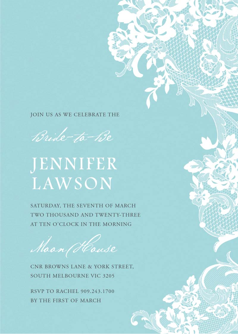 It's designed to be printed at 5x7 and, because it has a white background, it is easy to print on any printer without using too much ink. Breakfast At Tiffany S Digital Printing Bridal Shower Invitations Paperlust