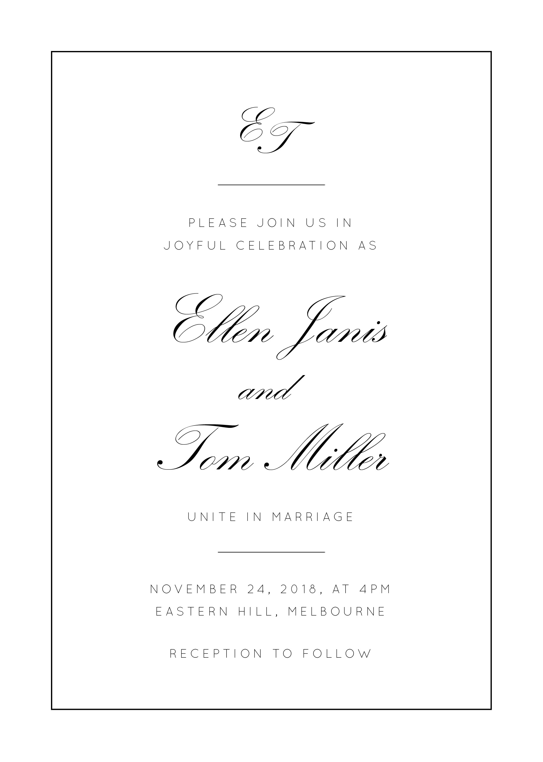 formal wedding invitations customize