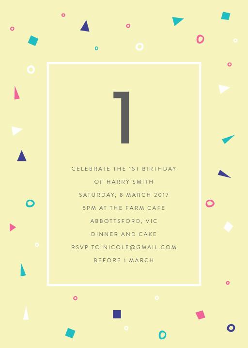 1st birthday invitations designs by