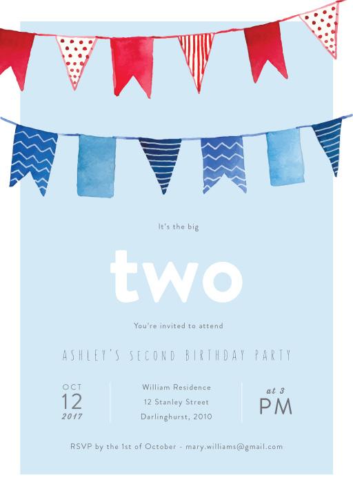 2nd birthday invitations designs by
