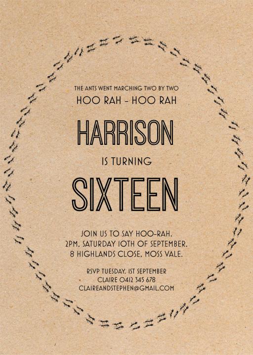 16th birthday invitations customize