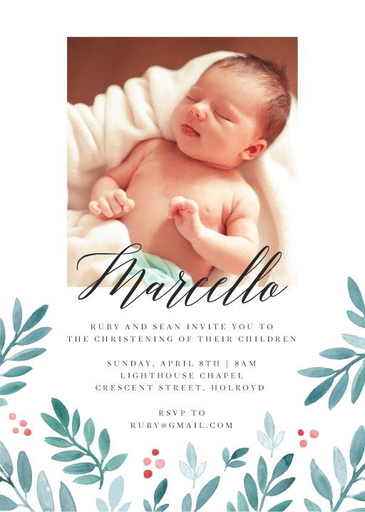 christening baptism invitation cards