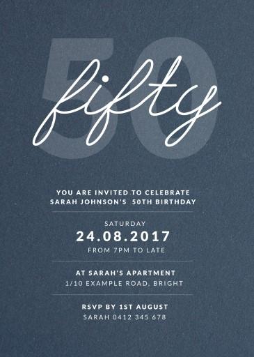 50th birthday invitations customize