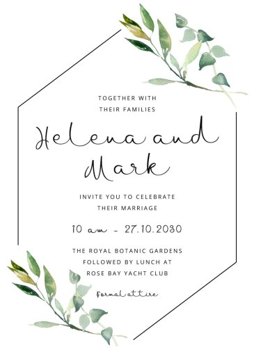 Vancouver Wedding Invitations Designs