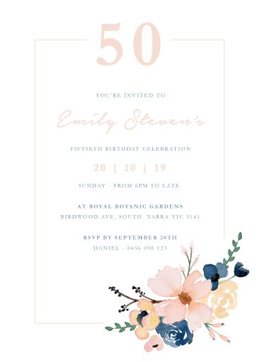 rose gold birthday invitations