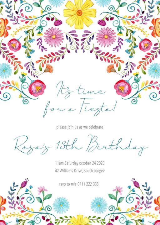 11th birthday invitations designs by