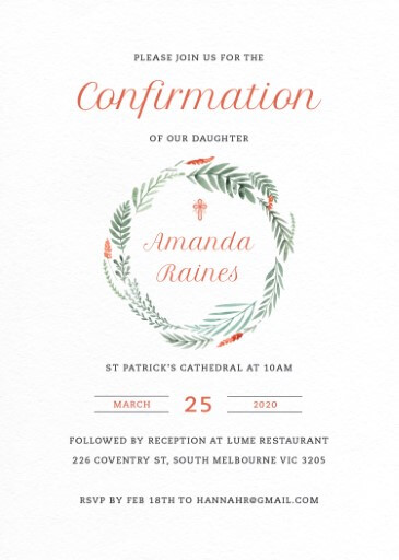 confirmation invitations by paperlust
