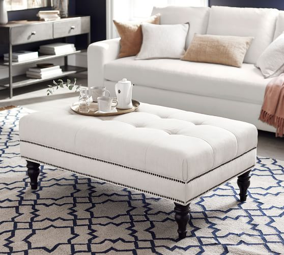fabric covered coffee table