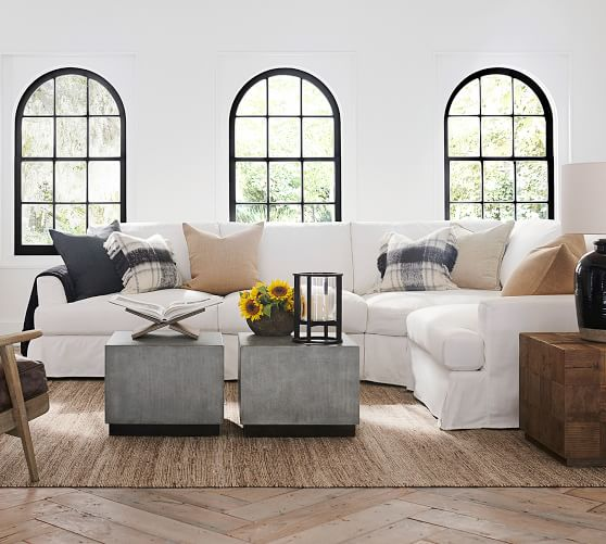 sullivan fin arm deep seat slipcovered 4 piece reversible sectional with wedge