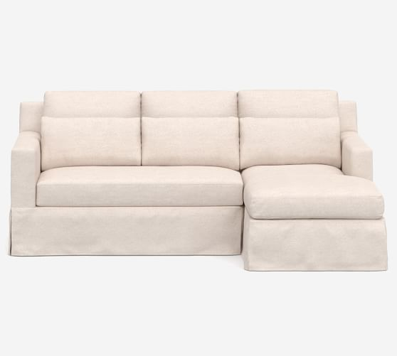 york square arm deep seat slipcovered sofa chaise sectional