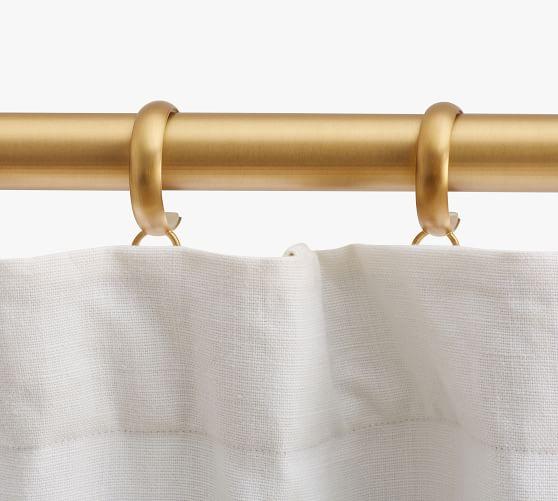 brass c loop curtain rings