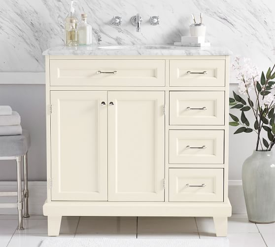 custom classic 36 asymmetric single sink vanity for wall mounted faucet