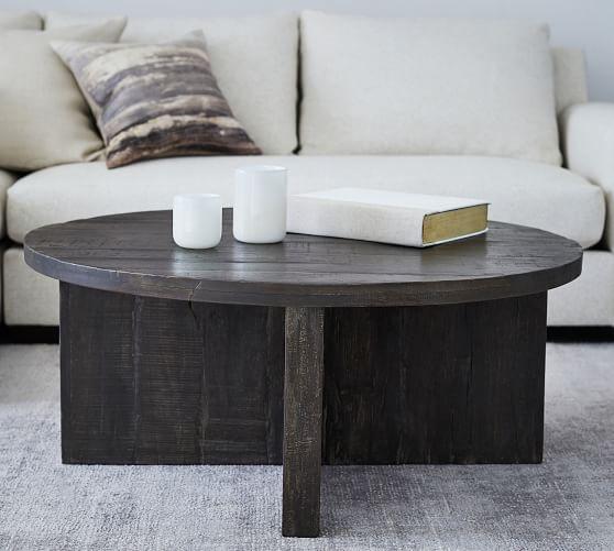 rocklin 42 round reclaimed wood coffee table