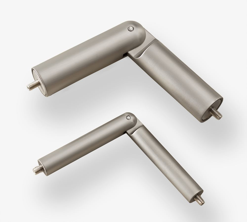 pewter corner curtain rod connector