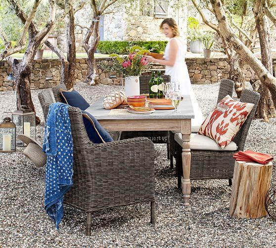 calistoga indoor outdoor 72 concrete acacia dining table