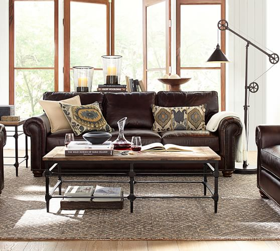 webster leather sofa with nailheads