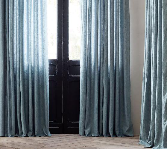 belgian flax linen rod pocket curtain