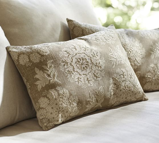serra beaded lumbar decorative pillow