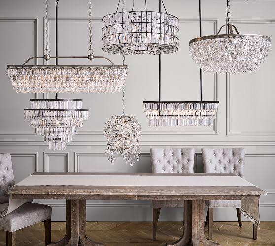gemma crystal rectangle chandelier