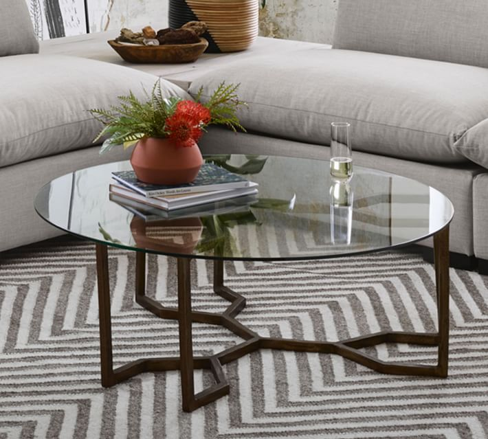 camilla 39 round glass coffee table