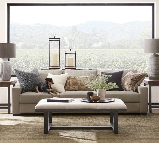 turner square arm leather sofa