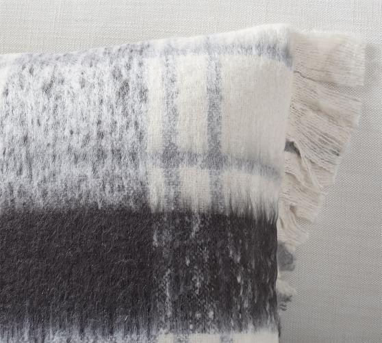 dagny plaid mohair pillow cover
