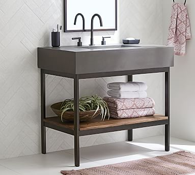 frances 36 concrete top single sink vanity
