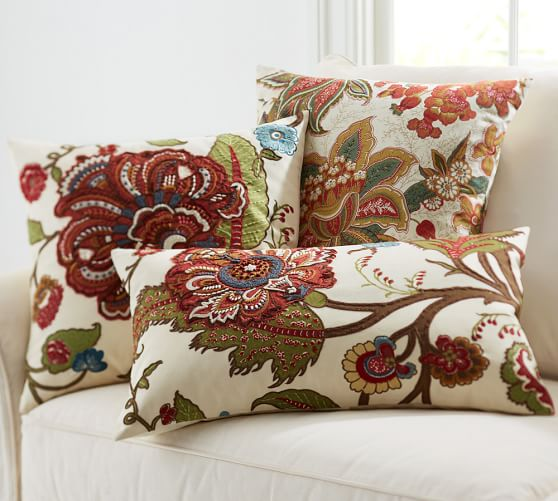 riley floral embroidered decorative