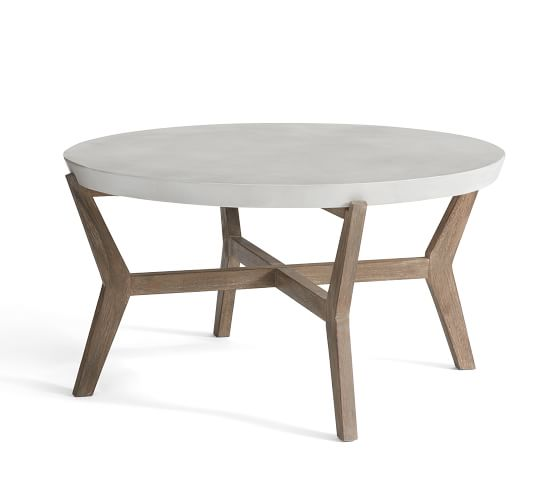 raylan concrete outdoor coffee table