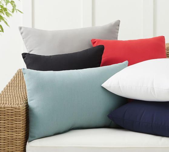 sunbrella solid indoor outdoor pillows