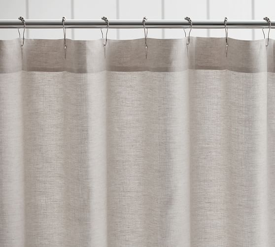 belgian flax linen hemstitch shower curtain