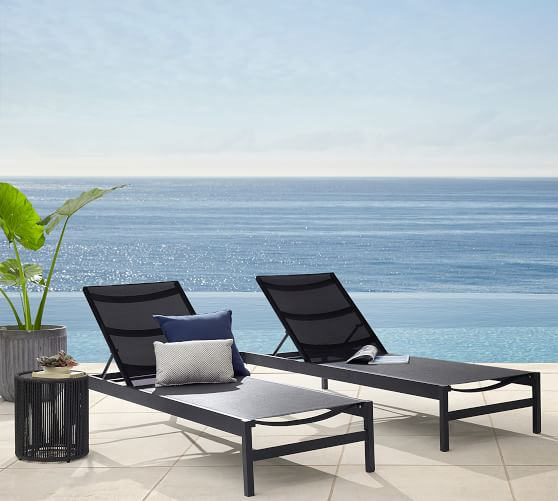 fiji mesh stackable chaise lounge set of 2