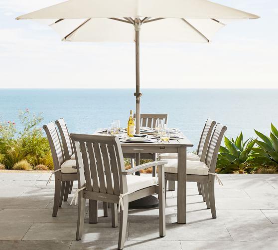 6 round outdoor umbrella fsc eucalyptus frame