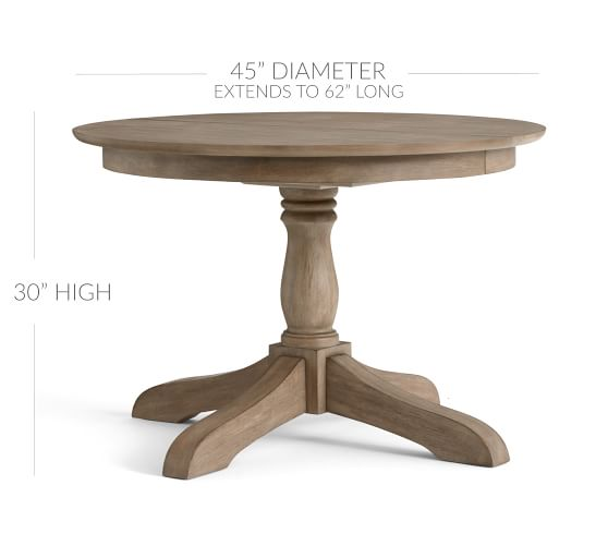 Owen Round Pedestal Extending Dining Table Pottery Barn