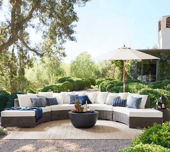 build your own huntington all weather wicker rounded sectional components