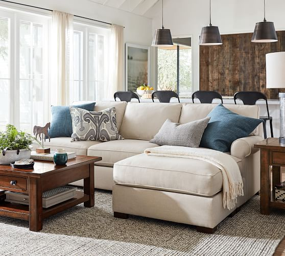 townsend roll arm upholstered sofa with reversible storage chaise sectional