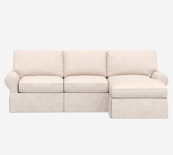 pb basic slipcovered sofa chaise sectional
