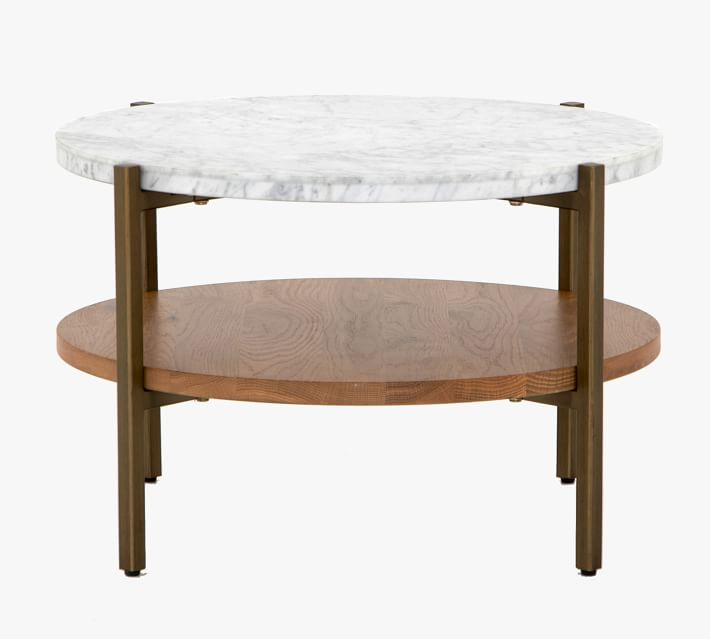 modern 24 round marble coffee table