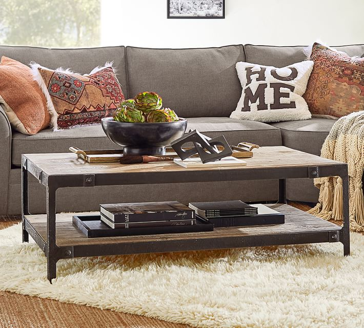 clint 52 reclaimed wood coffee table