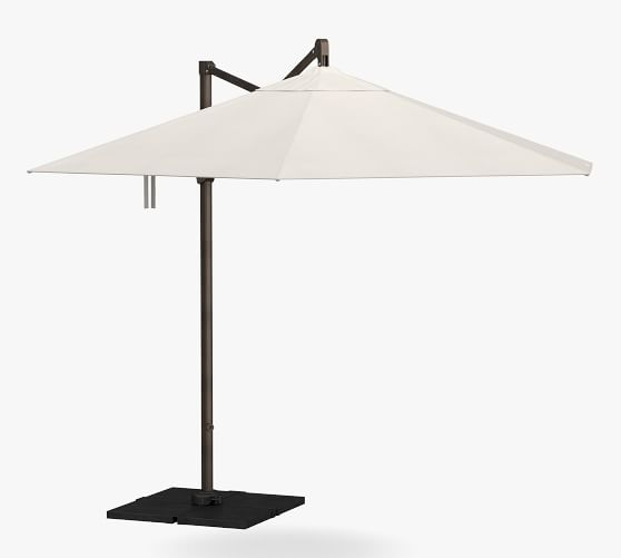 11 x 10 round cantilever outdoor umbrella rustproof aluminum frame bronze