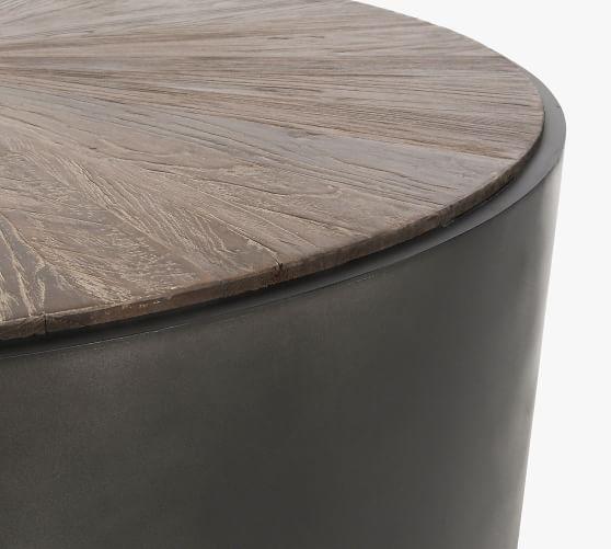 brockton 39 5 round reclaimed wood coffee table