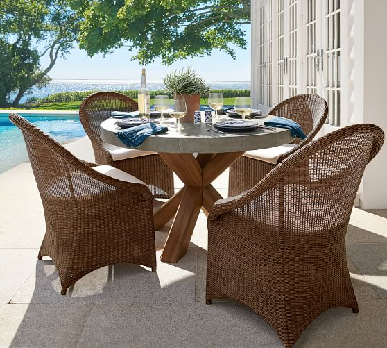 palmetto indoor outdoor all weather wicker dining chair honey