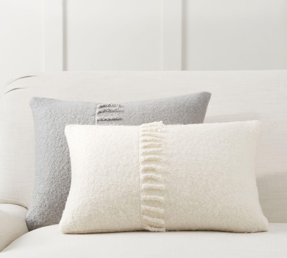 mohair tassel lumbar pillow cover