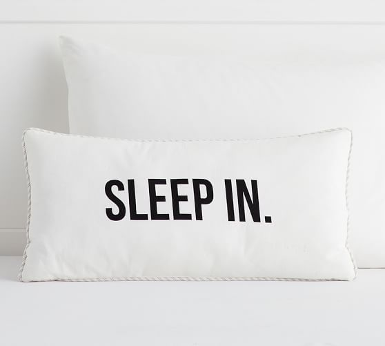 sleep in lumbar pillow pottery barn