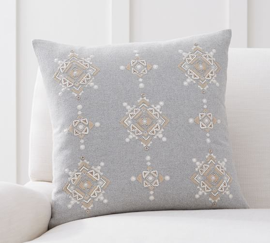 haylie embroidered flannel decorative